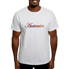 Australia Sunset Script (Dark T-Shirt