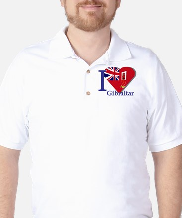 I love Gibraltar Golf Shirt