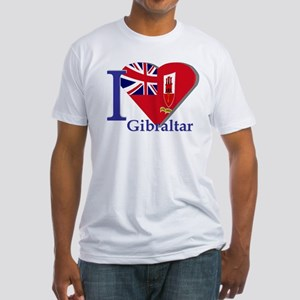 I love Gibraltar Fitted T-Shirt