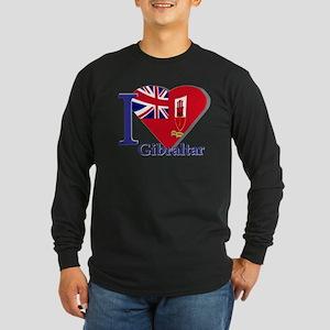 I love Gibraltar Long Sleeve Dark T-Shirt