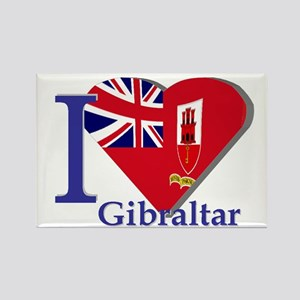 I love Gibraltar Rectangle Magnet