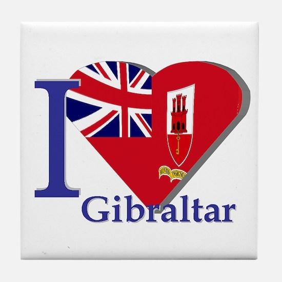 I love Gibraltar Tile Coaster