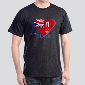 I love Gibraltar Dark T-Shirt