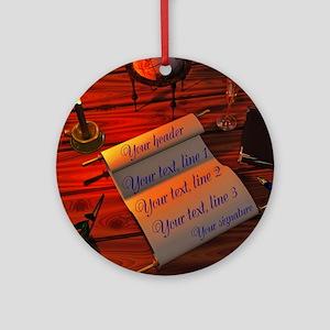 Personalizable handwritten letter Ornament (Round)