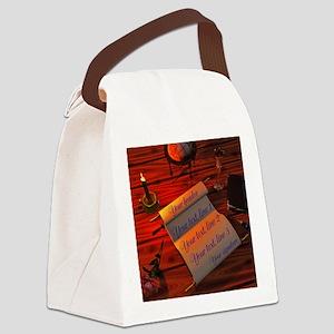 Personalizable handwritten letter Canvas Lunch Bag