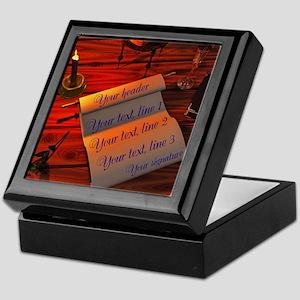 Personalizable handwritten letter Keepsake Box