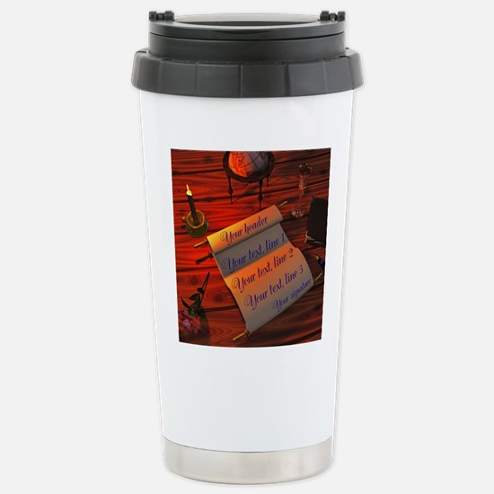 Personalizable handwrit Stainless Steel Travel Mug