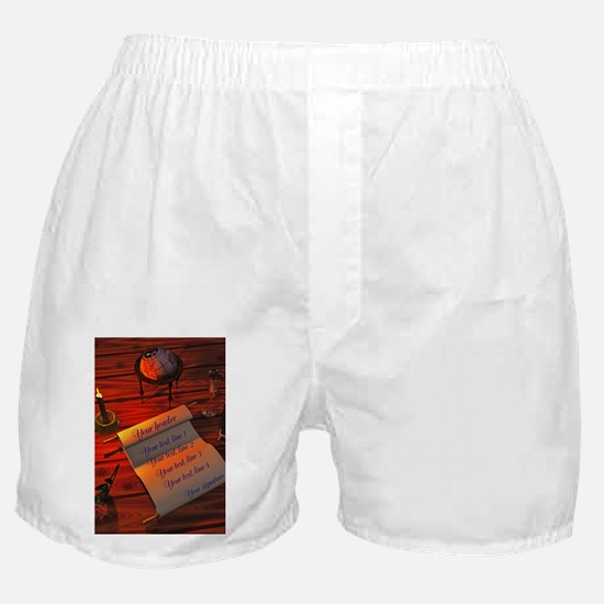 Personalizable handwritten letter Boxer Shorts