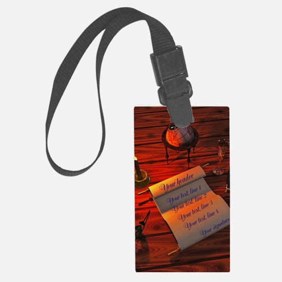 Personalizable handwritten lette Large Luggage Tag