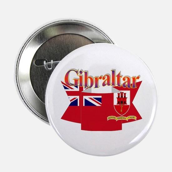 Gibraltar flag ribbon Button