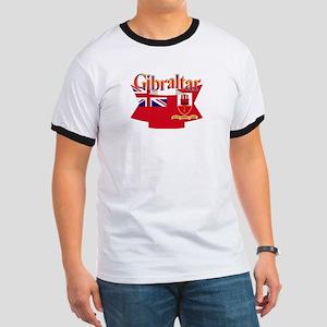 Gibraltar flag ribbon Ringer T