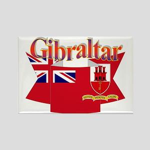 Gibraltar flag ribbon Rectangle Magnet