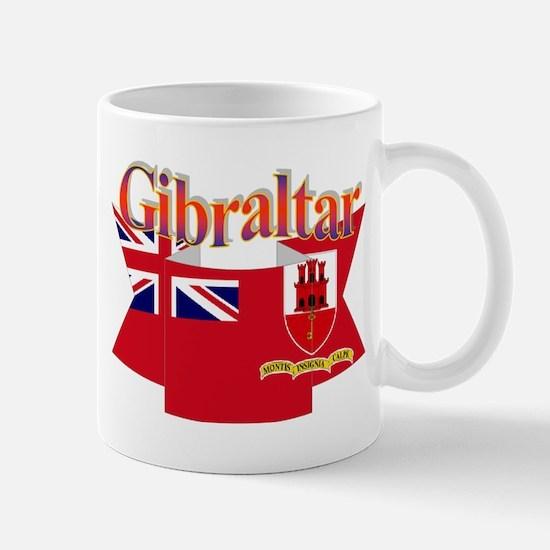 Gibraltar flag ribbon Mug