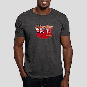 Gibraltar flag ribbon Dark T-Shirt