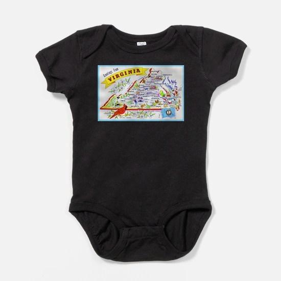 Virginia Map Greetings Infant Bodysuit Body Suit