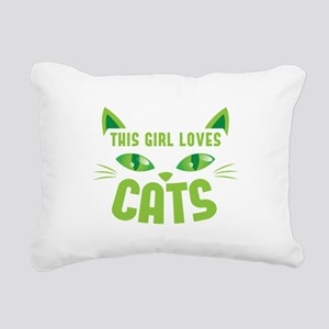 This girl loves CATS Rectangular Canvas Pillow