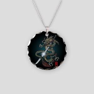 Dragon Katana01 Necklace Circle Charm