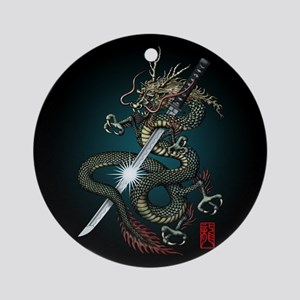 Dragon Katana01 Ornament (Round)
