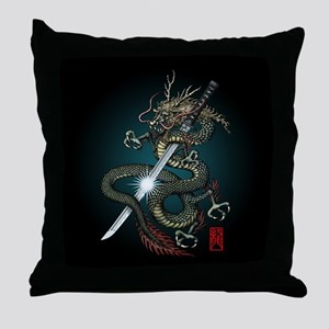 Dragon Katana01 Throw Pillow