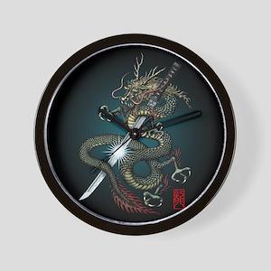 Dragon Katana01 Wall Clock
