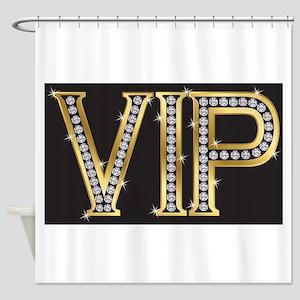 Shower Curtain: VIP Bling