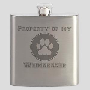 Property Of My Weimaraner Flask