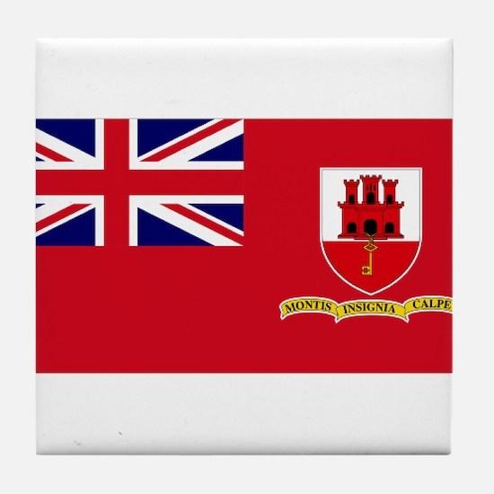 Gibraltar civil ensign Tile Coaster