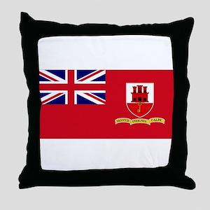 Gibraltar civil ensign Throw Pillow