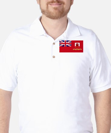 Gibraltar civil ensign Golf Shirt