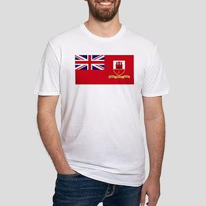 Gibraltar civil ensign Fitted T-Shirt