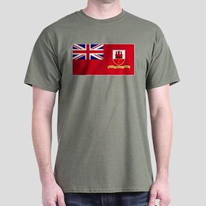 Gibraltar civil ensign Dark T-Shirt