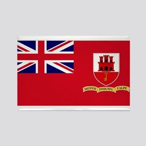 Gibraltar civil ensign Rectangle Magnet