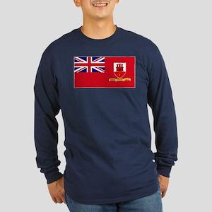 Gibraltar civil ensign Long Sleeve Dark T-Shirt