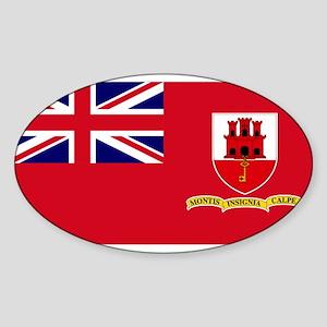 Gibraltar civil ensign Oval Sticker