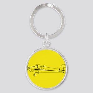 Piper J3 Cub Round Keychain