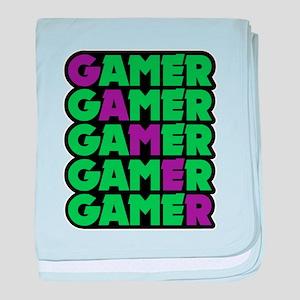 Gamer baby blanket
