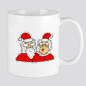 Mr and Mrs Santa Claus Mugs