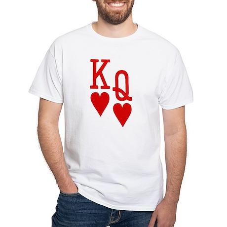 King Queen Poker White T-Shirt