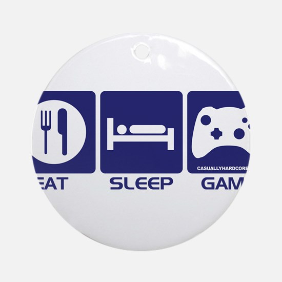 Eat Sleep Game Ornament (Round)