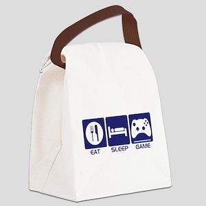 Eat Sleep Game Canvas Lunch Bag