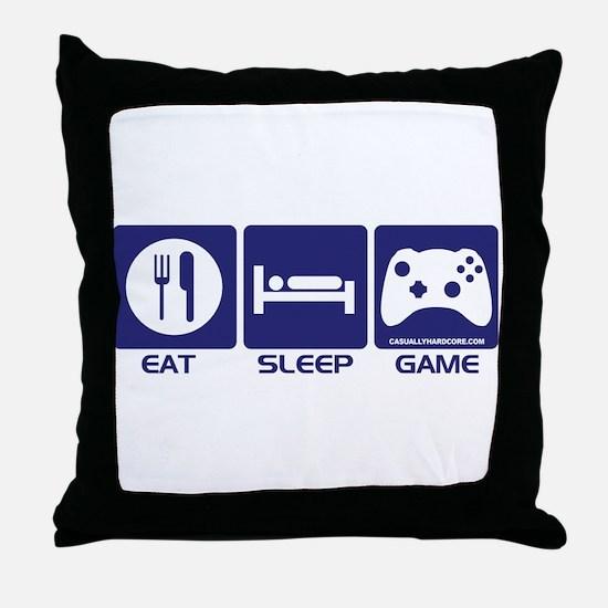 Eat Sleep Game Throw Pillow