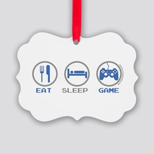 Eat Sleep Game Picture Ornament