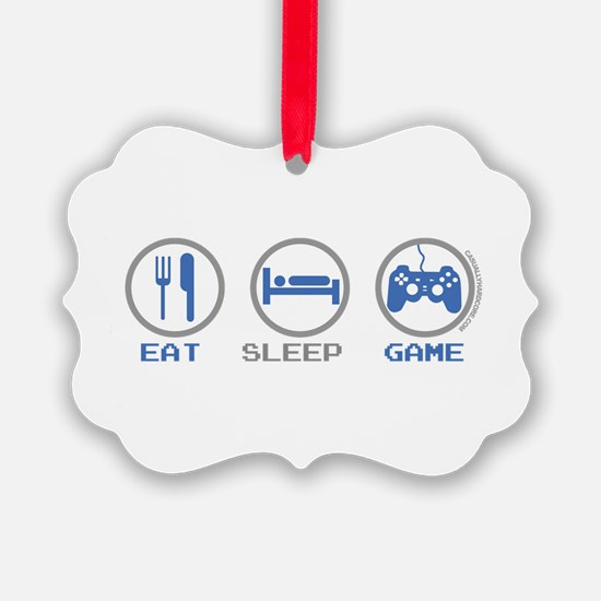 Eat Sleep Game Ornament
