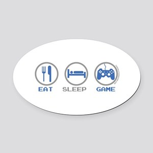 Eat Sleep Game Oval Car Magnet
