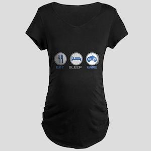 Eat Sleep Game Maternity T-Shirt