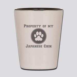 Property Of My Japanese Chin Shot Glass