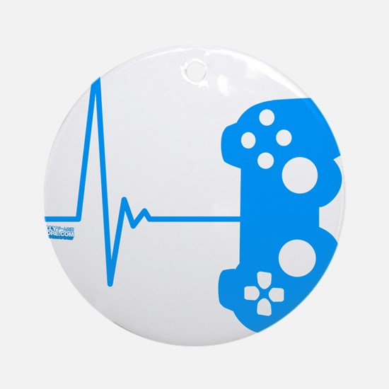Gamer Heart Beat Ornament (Round)