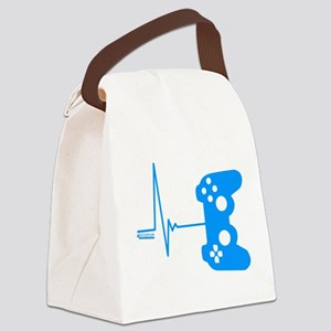 Gamer Heart Beat Canvas Lunch Bag