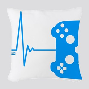 Gamer Heart Beat Woven Throw Pillow