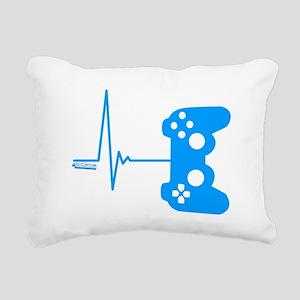 Gamer Heart Beat Rectangular Canvas Pillow